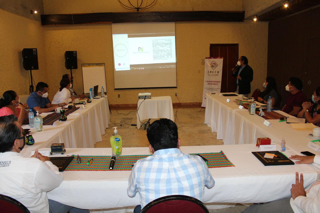 Palenque, sede del Sexto Conversatorio Regional para el Diagnóstico de la Política Estatal Anticorrupción