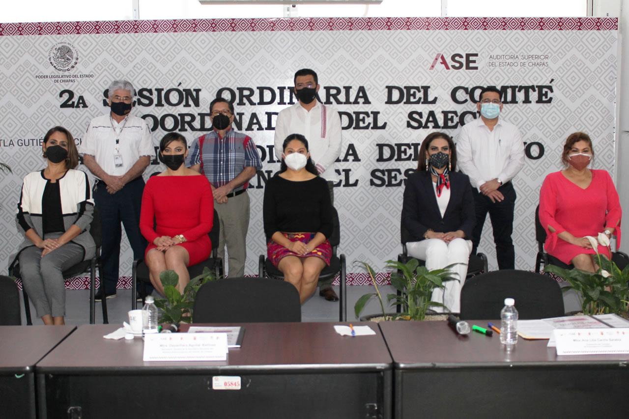 Sesiona Órgano de Gobierno de la Secretaría Ejecutiva del Sistema Anticorrupción del Estado de Chiapas