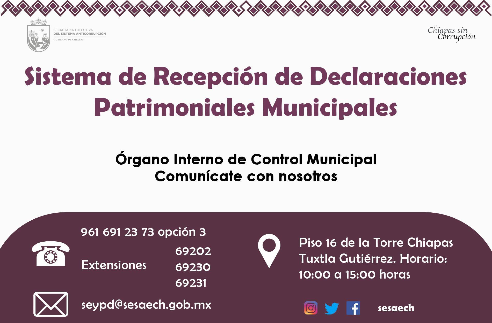 Sistema de Recepción de Declaraciones Patrimoniales Municipales